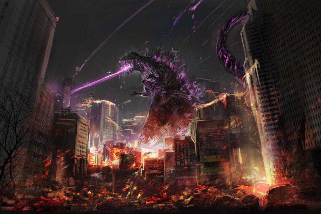 "Details about Godzilla Movie 24"" x 16"" Large Wall Poster"