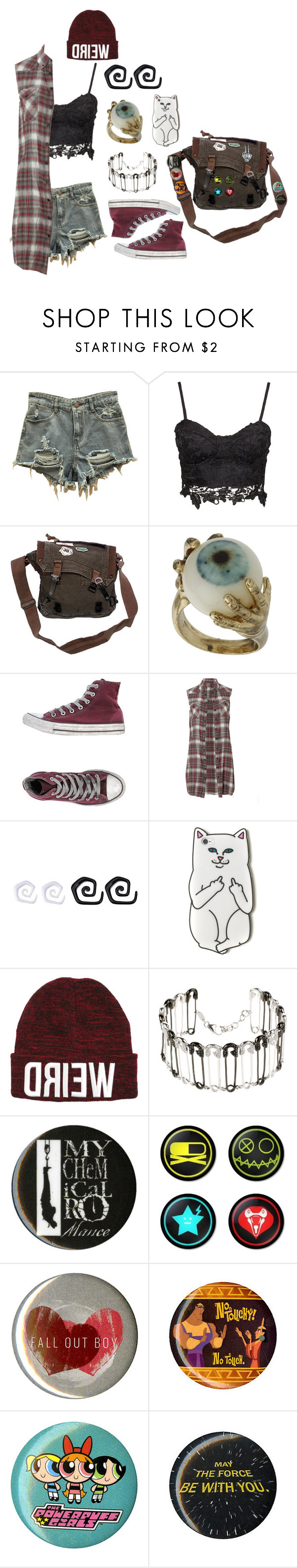 """""""Pop-Punk"""" by causingpanicatthetheater on Polyvore featuring Converse, AllSaints, AS29 and Disney"""