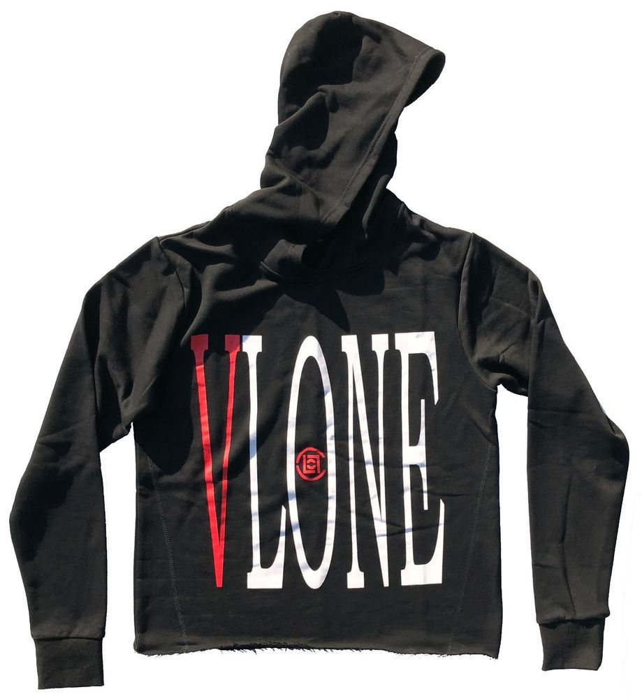 e1643f44fe32 eBay  Sponsored Vlone x Clot Dragon Red on Black Hoodie Sweatshirt ...