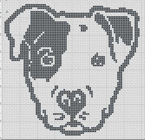 Pit Puppy Pibble Staffy Silhouette Small Cross by