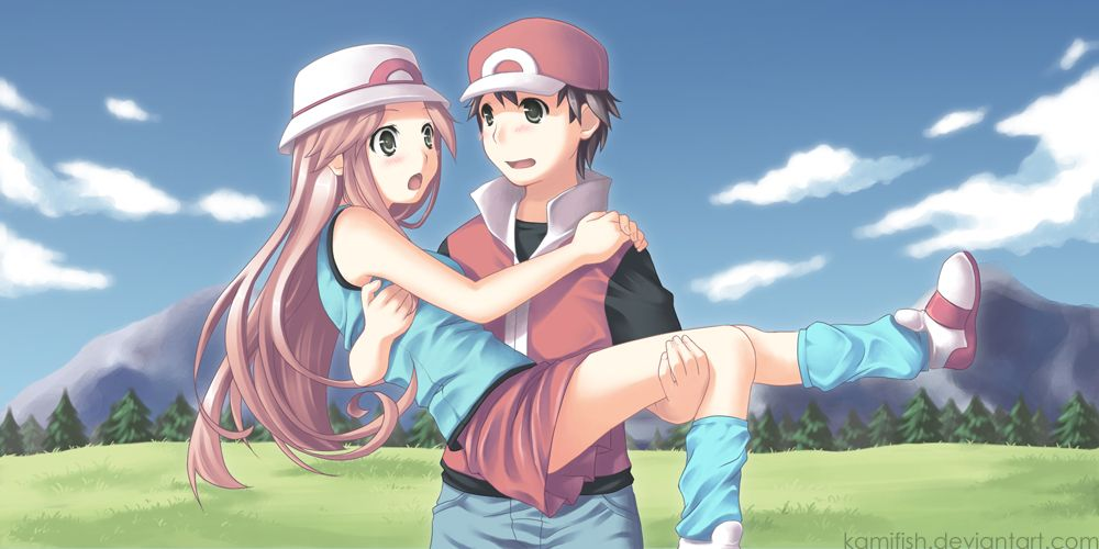 I just love how cute they look! ^^ Pokemon- Red and Leaf by kamifish.deviantart.com