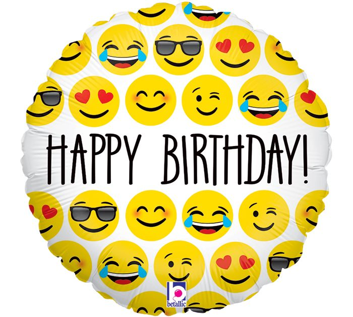 Say Happy Birthday With Emoji Characters Burtonandburton