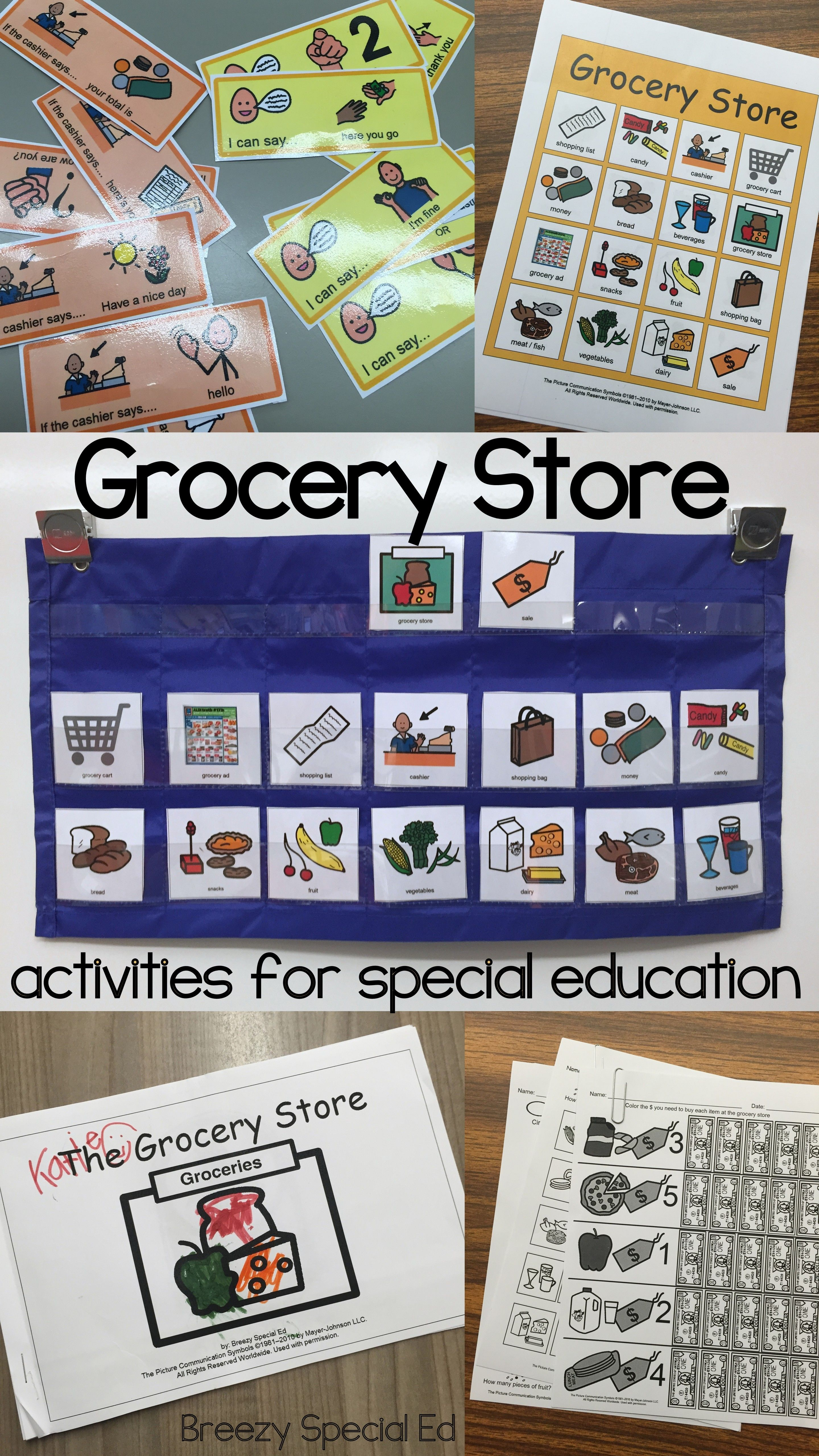 Grocery Store Unit For Community Trips Special Education