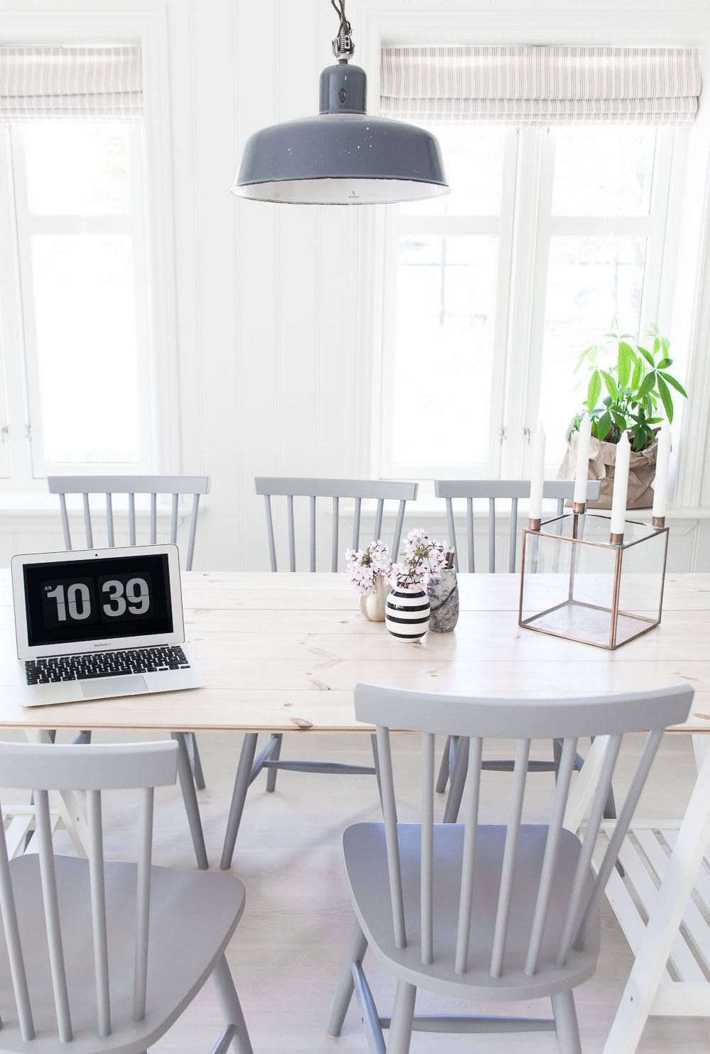 Ive Always Loved This Chair Style Grey Wood And White Dining Room Photo Anetteshus