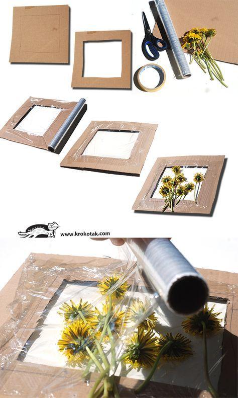 manualidad vacaciones niños flores marco panel | IDEAS PARA HACER ...