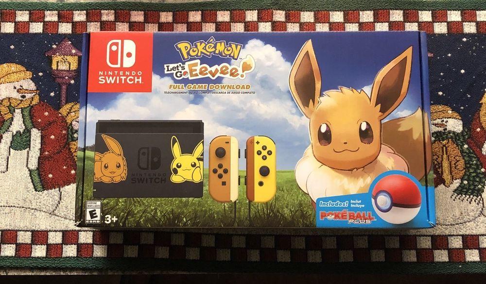 Nintendo Switch Pikachu Eevee Edition Pokemon Let S Go Evee