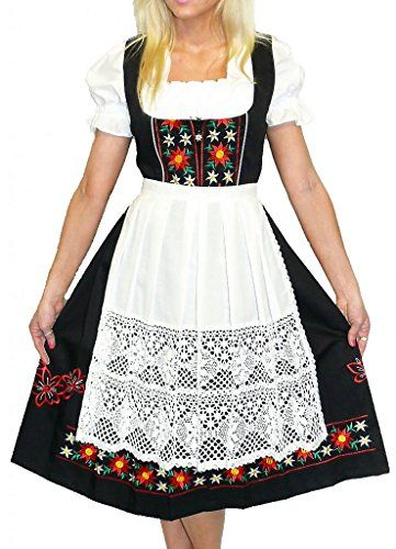 Sz 16 DIRNDL Women German DRESS Oktoberfest EMBROIDERY SHORT Garden Waitress SET
