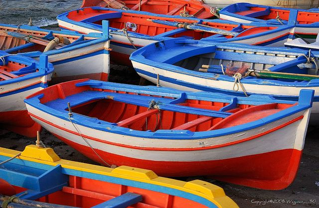 Colorful Boats Boat Color Fishing Boats