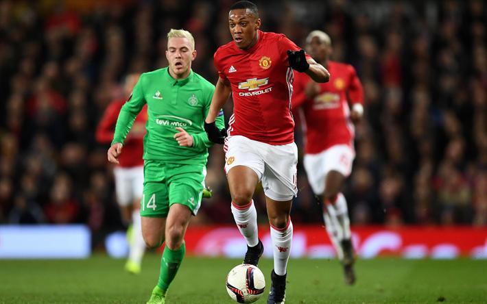 Lataa kuva Anthony Martial Joran, Manchester United, eteenpäin, MU, Ranskalainen jalkapalloilija, Premier League, Englanti