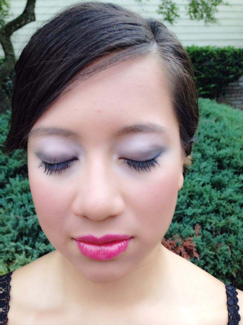 Makeup by me Dior eyes Dark shimmery blue is from Carre Bleu