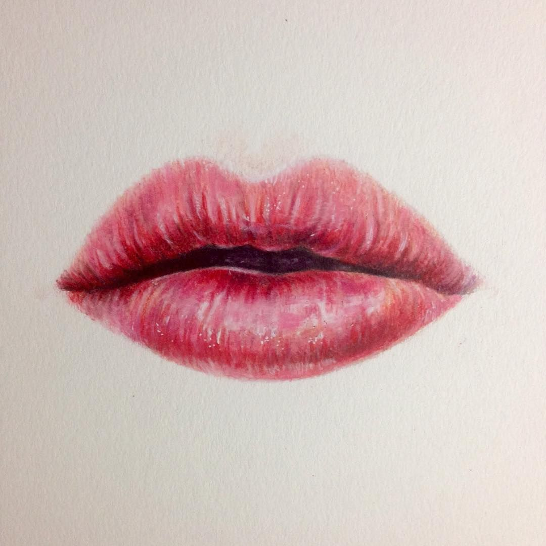 Quick drawing of lips hope you like it art drawing for How to draw cute lips