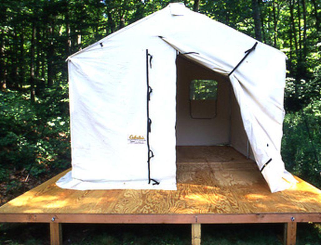 Build a portable platform outdoor life tent platform