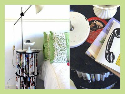 A quirky side-table from folded books - How to do it yourself