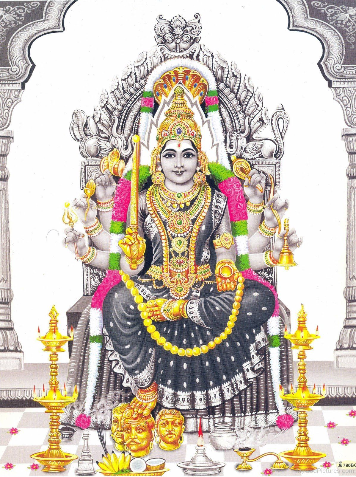 Black And White Background Picture Of Dess Mariamman