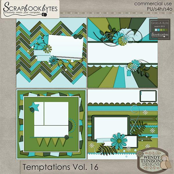 Temptations Vol. 16 {CU/PU/S4O/S4H} :: Grab-A-Byte (GAB) :: SCRAPBOOK-BYTES