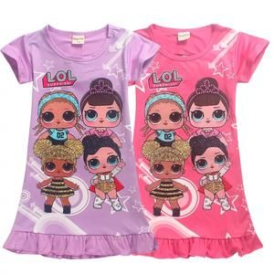 57fd21524b4f1 2019 LOL Little Girls' Short Sleeved Hot Summer Cartoon Printed Dresse – Hot  Sale Products free ship to worldwide