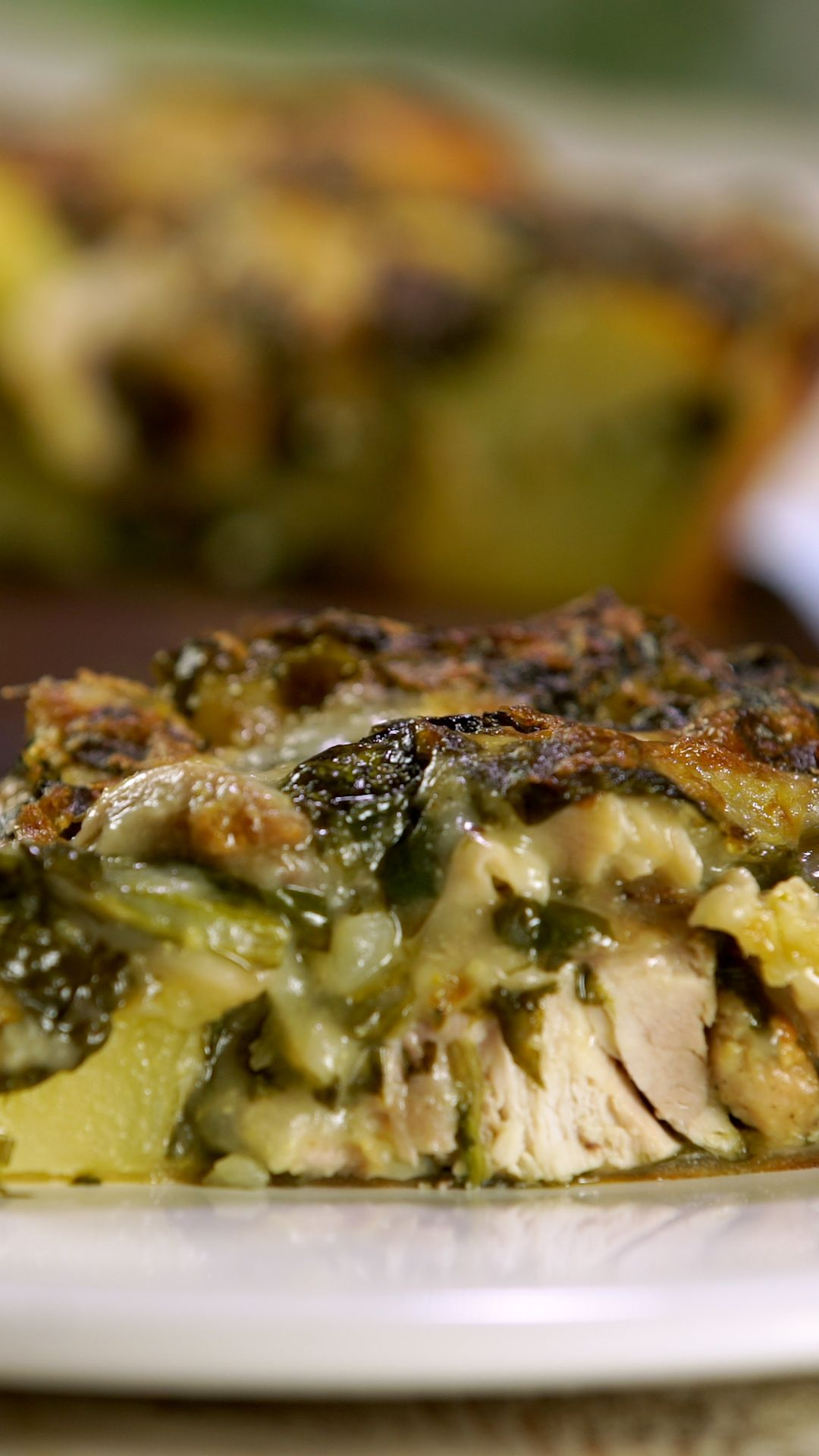 Photo of Chicken, Potato and Spinach Cake