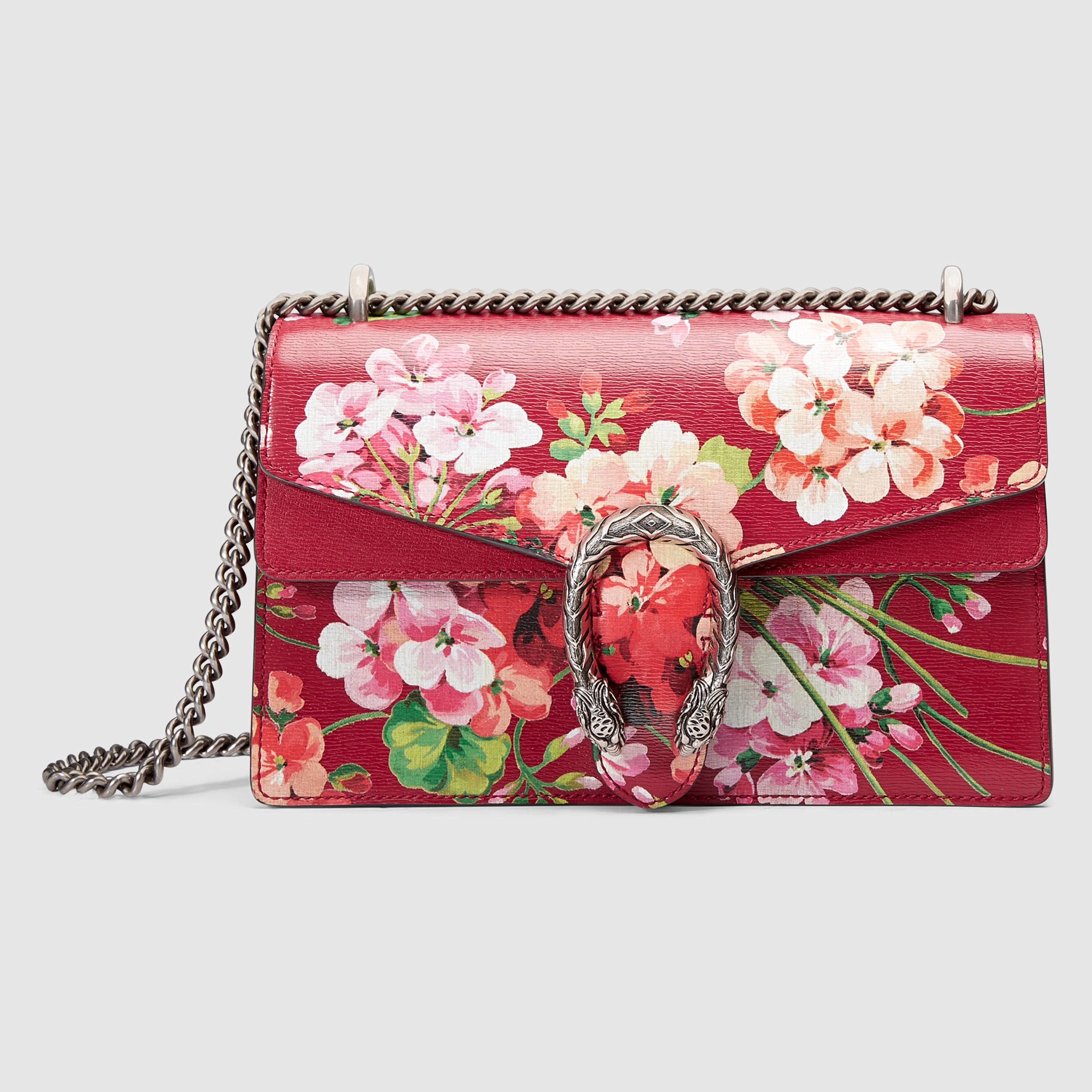 b90a180f88e Gucci Dionysus Blooms Shoulder Bag in Red (blooms leather)