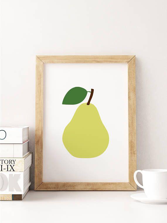 Pear Wall Art   Pear Printable   Pear Print   Kitchen Decor   Baby ...