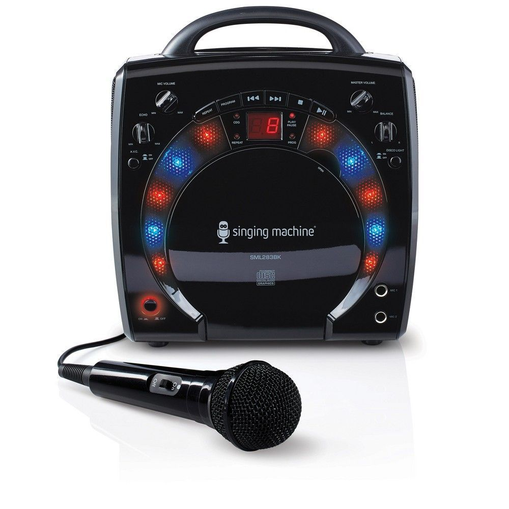 Singing Machine SML283BK Portable CD +G Karaoke System with Disco Lights and Microphone, Black #karaokesystem Singing Machine SML283BK Portable CD +G Karaoke System with Disco Lights and Microphone, Black #karaokeplayer Singing Machine SML283BK Portable CD +G Karaoke System with Disco Lights and Microphone, Black #karaokesystem Singing Machine SML283BK Portable CD +G Karaoke System with Disco Lights and Microphone, Black #karaokesystem