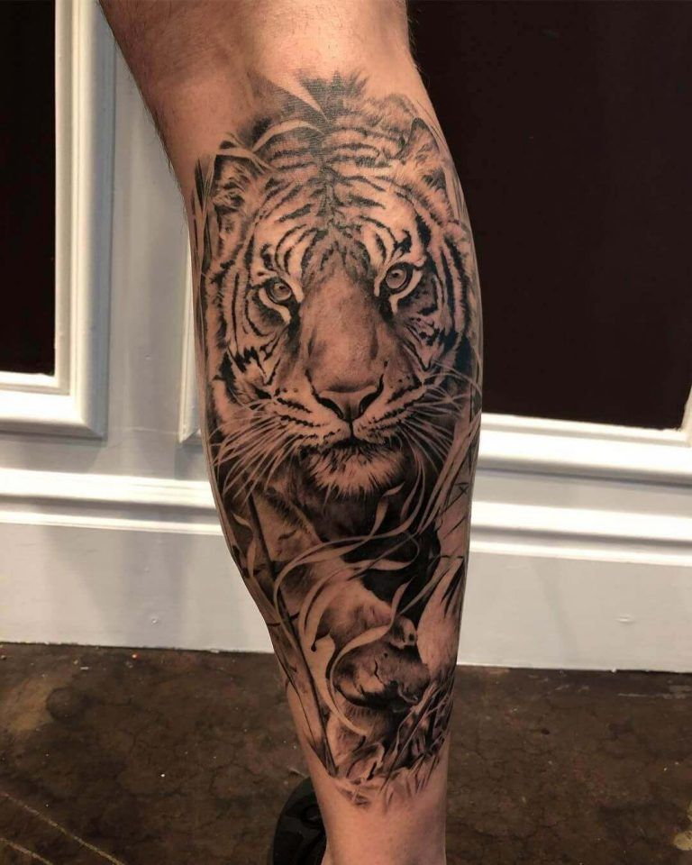 Top 12 Best Calf Muscle Tattoo Ideas Tiger Tattoo Designs Petpress In 2020 Tiger Tattoo Design Tiger Tattoo Leg Tattoo Men
