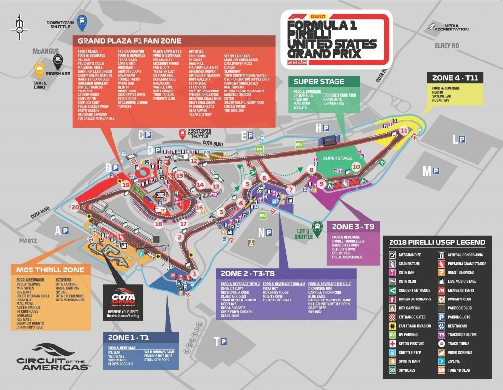 The Amazing As Well As Attractive Circuit Of The Americas Seating Chart