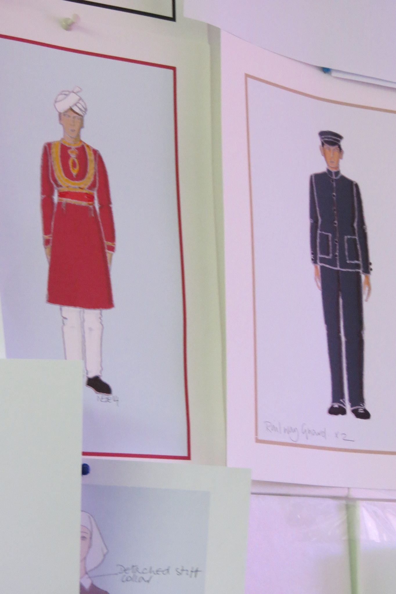 Menswear costume sketches from Indian Summers Costume Designer Nic Ede | Courtesy of Rebecca Eaton for MASTERPIECE