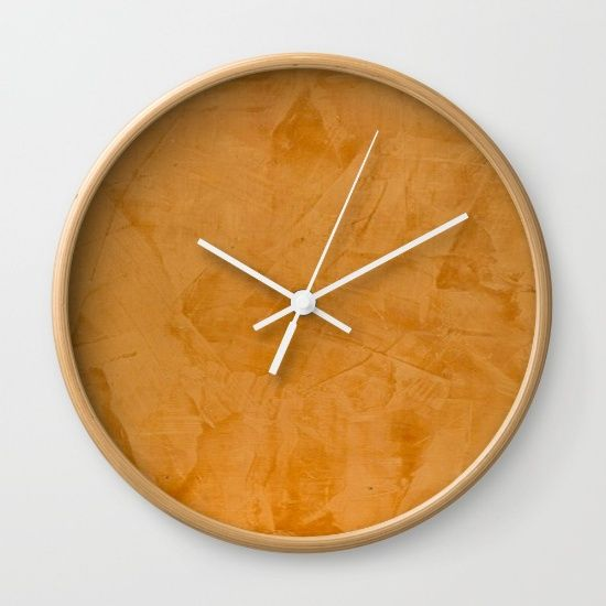 Orange Home Decor Accessories By Corbin Henry For Society6 Wall Clock Available