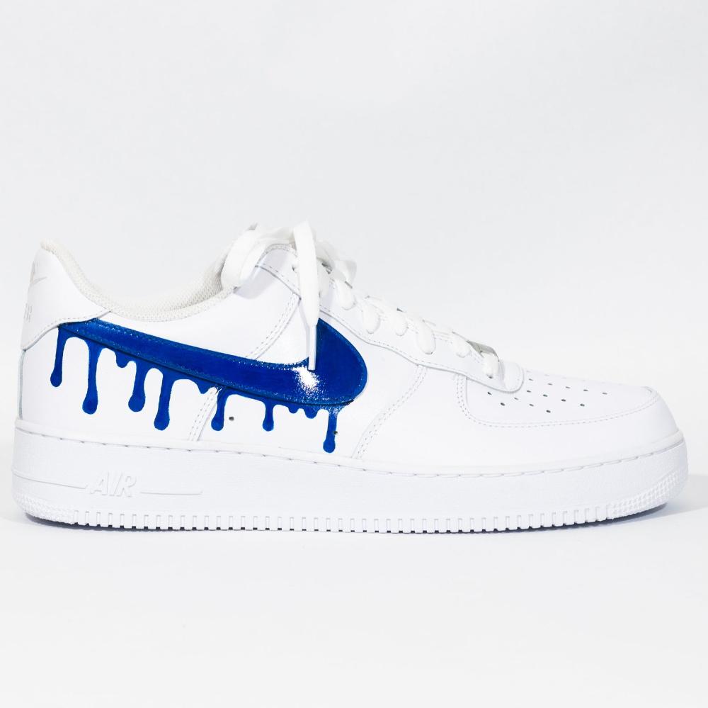 air force 1 custom drip blue