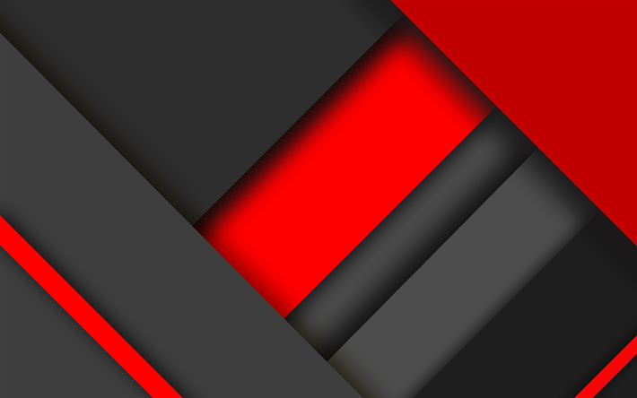 Download Wallpapers 4k Material Design Red And Black Colorful Lines Geometric Shapes Lollipop Triangles Creative Strips Geometry Dark Background Besth Geometric Shapes Dark Background Wallpaper Dark Backgrounds