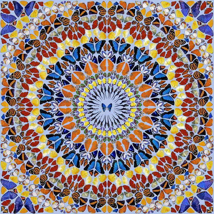 Damien Hurst Blue Paintings