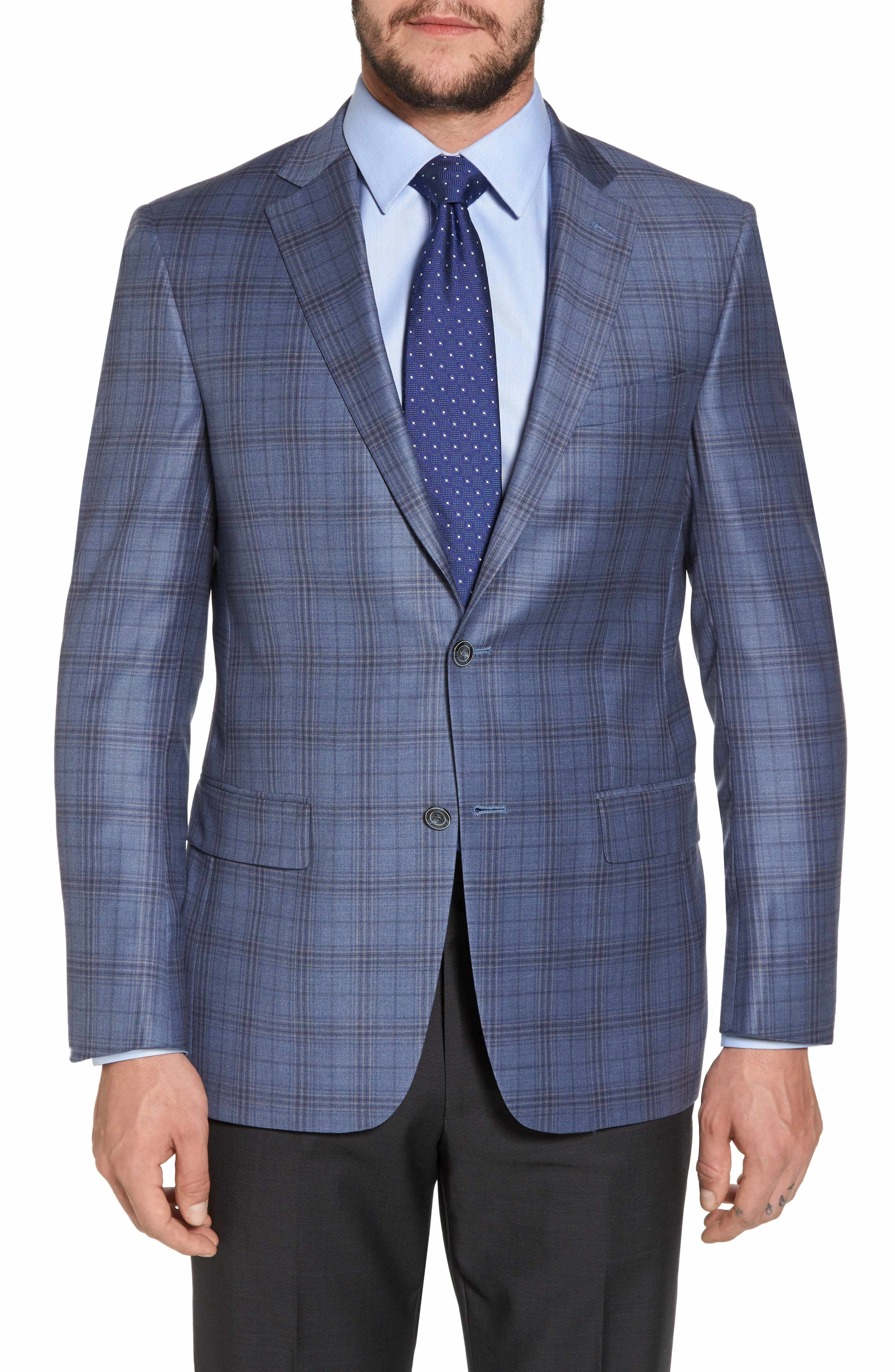 Hart Schaffner Marx Classic Fit Plaid Wool Sport Coat ...