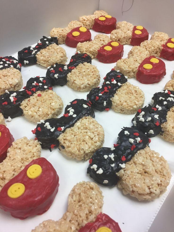 Mickey Mouse rice crispy treats #crispytreats