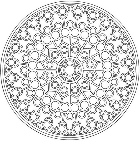 Celtic Mandala With Circles Coloring Page From Celtic Mandalas Category Select From 26204 Printable Craf Celtic Mandala Mandala Coloring Pages Celtic Coloring