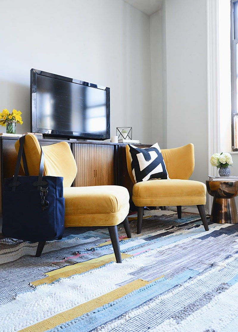 Chairs in front of tv across from couch interior design interior colors west elm