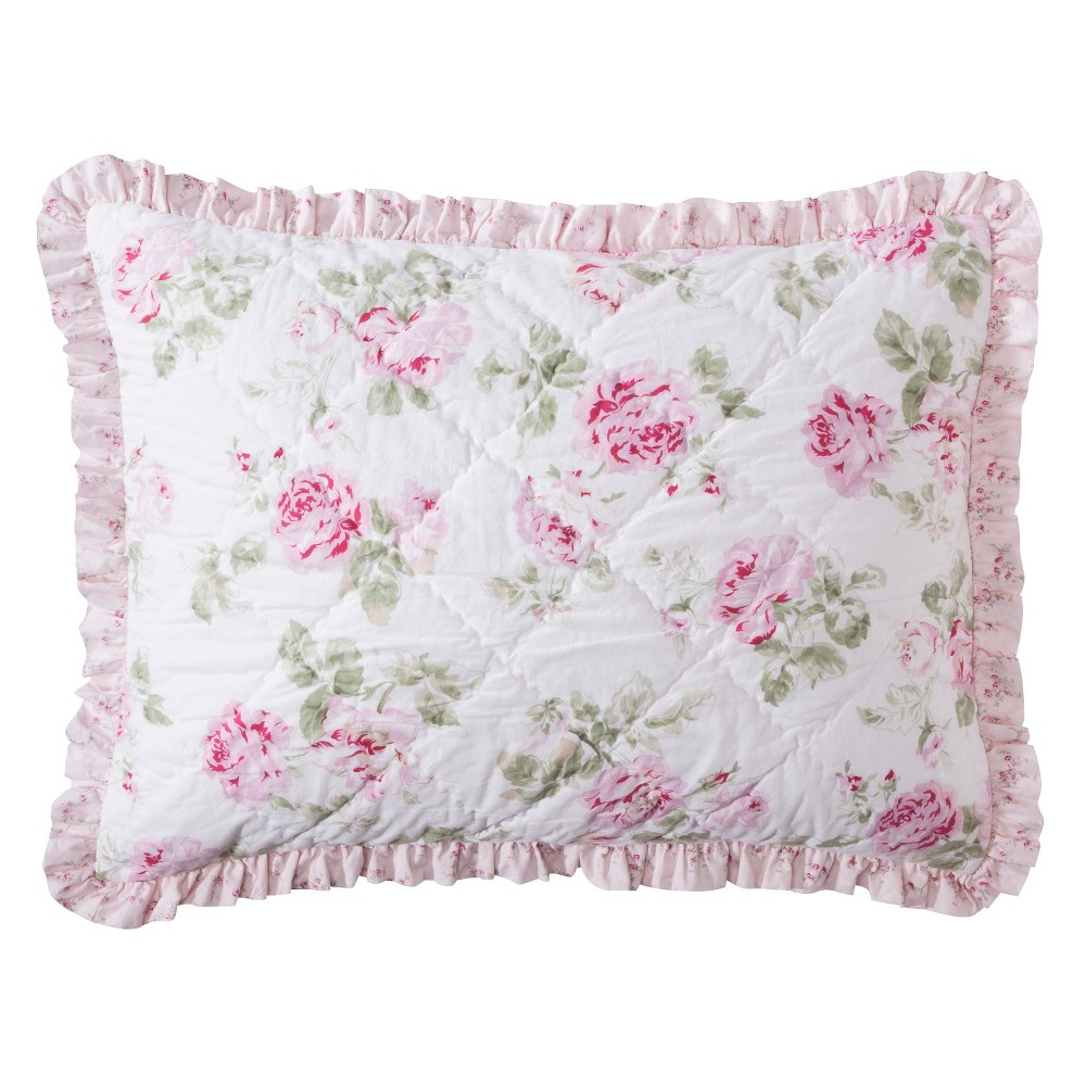 Garden Rose Quilted Sham Standard Simply Shabby Chic