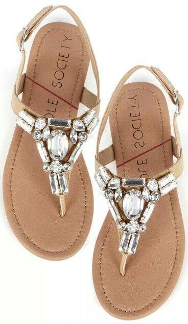 e50ecb6b5656a7 Crystal sandals  Shoes  JenniferW