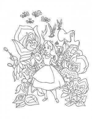 alice in wonderland coloring pages coloring pages for kids disney coloring pages printable coloring pages color pages kids coloring pages - Alice In Wonderland Coloring Pages 2