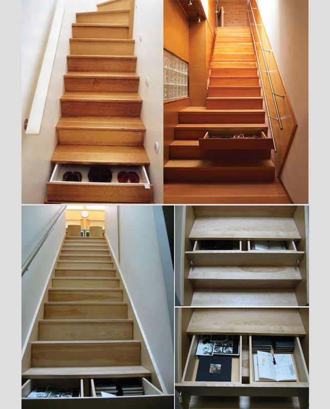 Modern Storage Ideas For Small Spaces Staircase Design: Functional Storage Ideas For