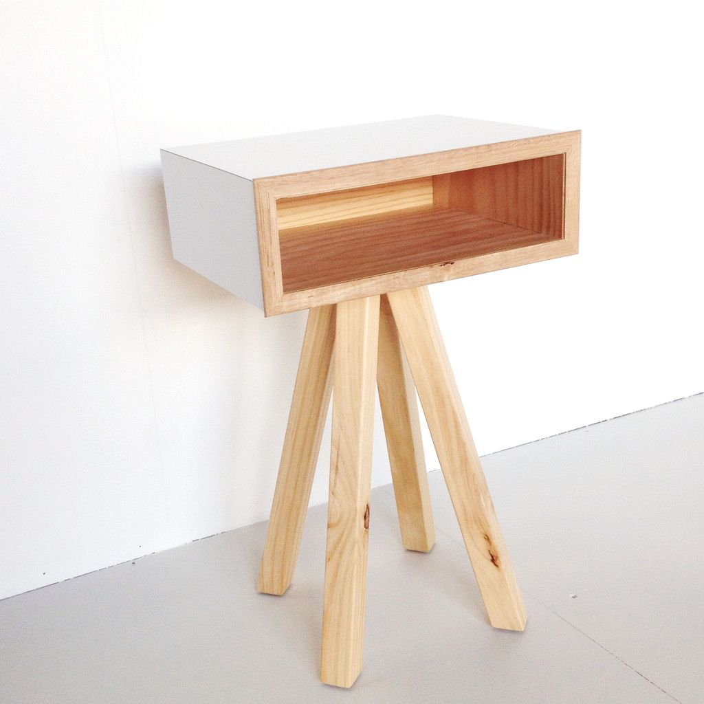 The jetson bedside table boasts a funky yet supremely versatile