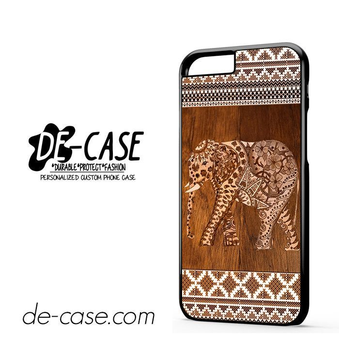 Elephant Aztec Wood Tekture DEAL-3875 Apple Phonecase Cover For Iphone 6 / 6S