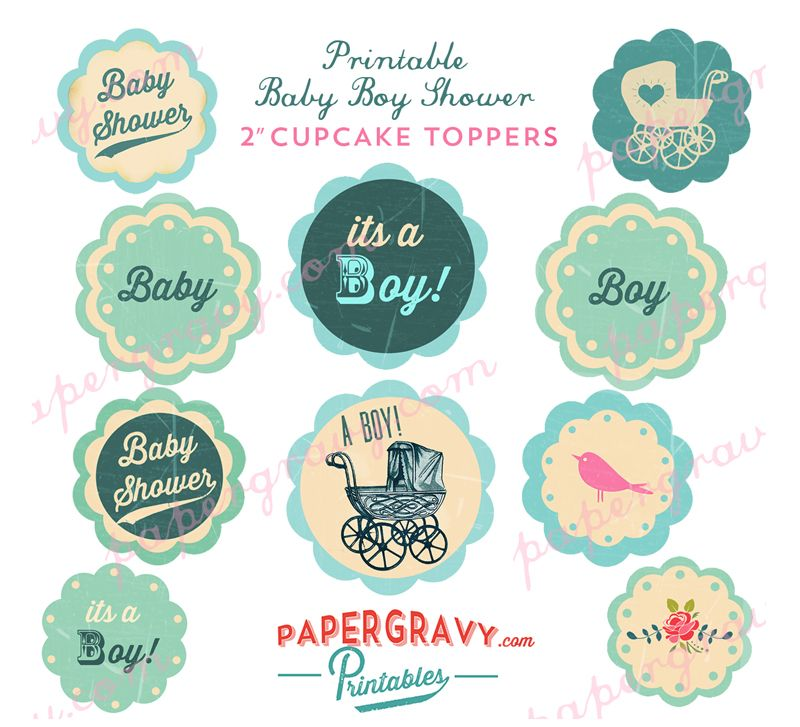 Baby shower free printables babies free and babyshower for Baby shower cupcake picks decoration