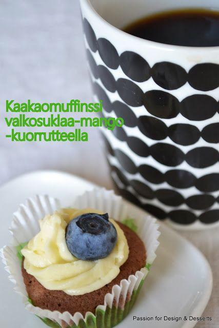Passion for Design & Desserts: Minimuffinssit valkosuklaa-mango -kuorrutteella