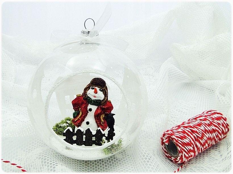 Bombka Szklo Balwanek Kruk Na Prezent Handmade 7683208371 Oficjalne Archiwum Allegro Christmas Bulbs Holiday Decor Christmas Ornaments