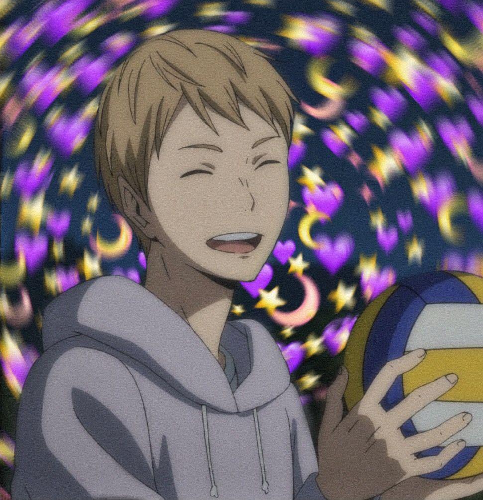 haikyuu tsukishima anime edit freetoedit remixed
