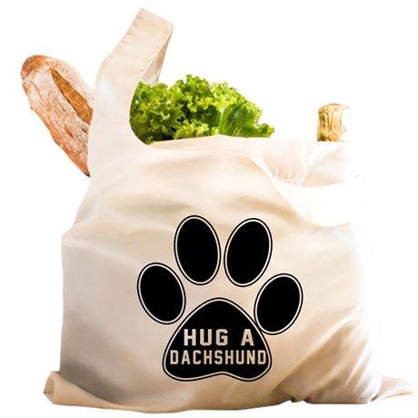 Hug A Dachshund Dog Reusable Shopping Bag on CafePress.com