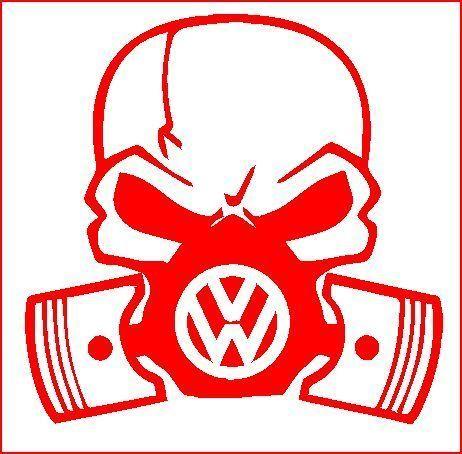 VOLKSWAGEN-VW-T2-T4-T5-T25-SKULL-GAS-MASK-CAMPER-STICKERS-GTI-GOLF-LUPO-PASSAT