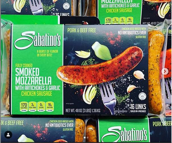 Sabatino S Chicken Garlic Sausage 3lbs Package 4 4 Pk Sausages 12 99 Costco In 2020 Sausage Frozen Food 99 Chicken