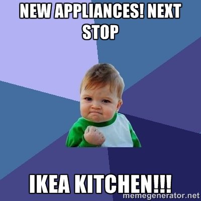 Appliances are here next stop IKEA YES!!! #ikea