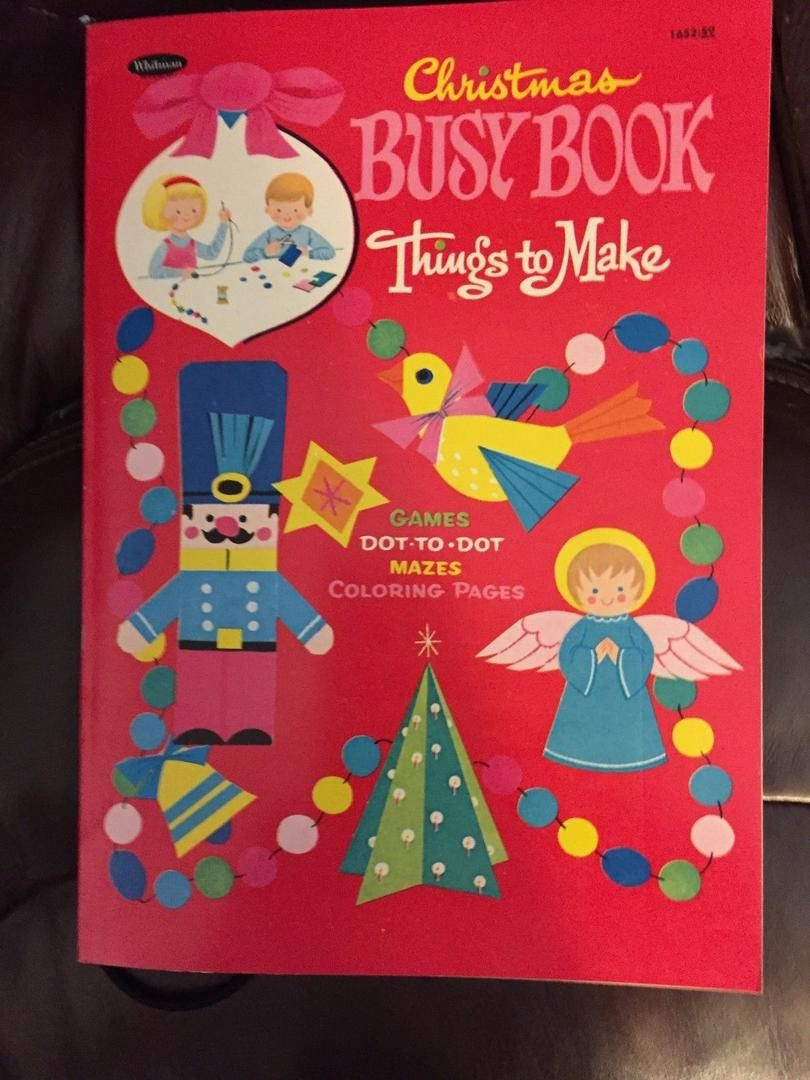 $20 2015 Whitman Christmas Busy book Coloring book Mint Condition ...